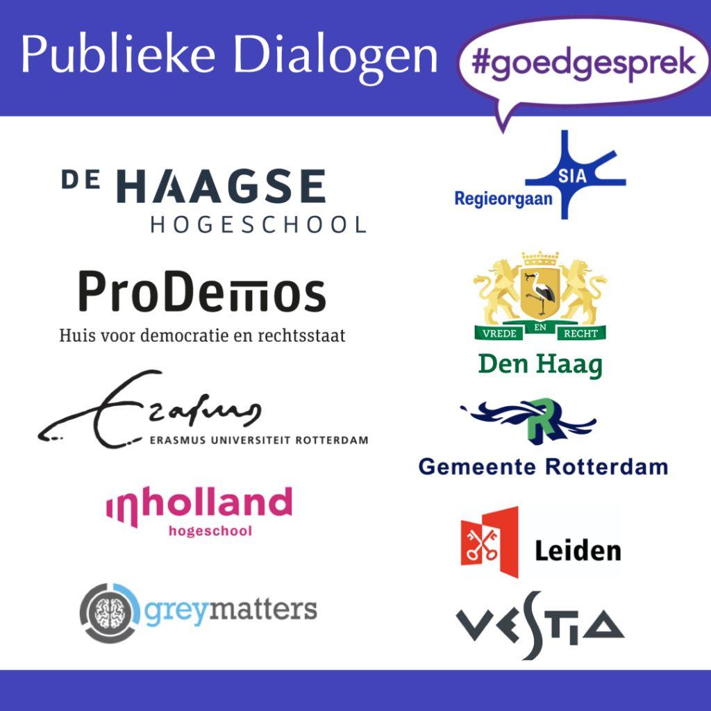 Projectpartners in het project Publieke Dialogen #goedgesprek